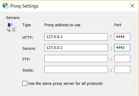 proxy config
